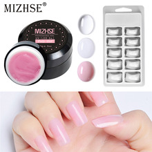 MIZHSE Manicure Set Gel Polish Kits Vernis Semi Permanent Poly Nail Kit Acrylic Polygel With Brush For Extension