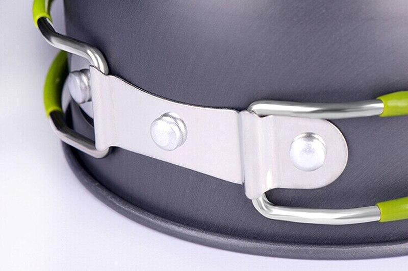 1 Set Escursione di Campeggio di Picnic Pentole Cook Cooking Pot Bowl Set Esterno In Alluminio trasporto libero all'ingrosso A3