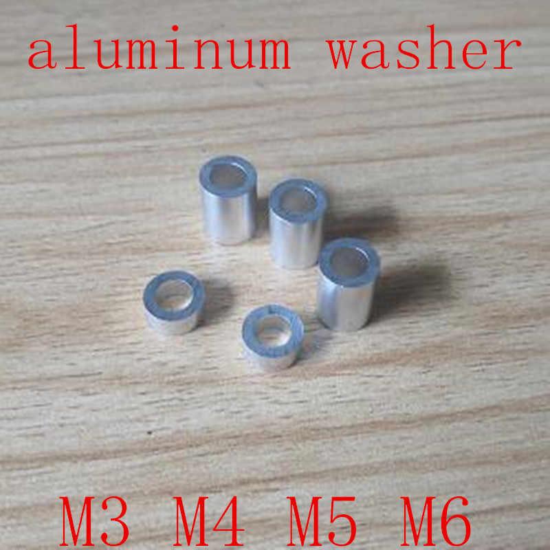 20 Buah/Banyak M3 M4 M5 M6 Aluminium Mesin Cuci Aluminium Bushing Gasket Spacer Non-threaded Standoffs untuk RC Model bagian