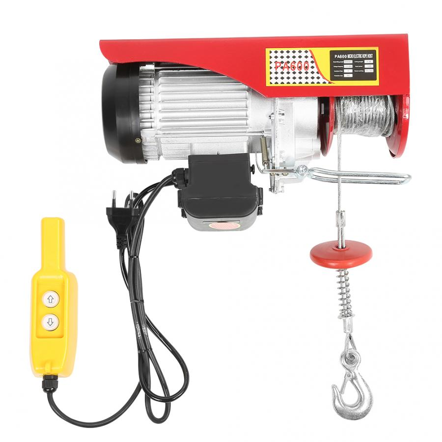 300/600kg Electric Hoist Winch Remote Control Cable Lifting Crane EU Plug 220V Lifting Tools