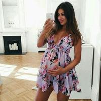 98422ba1762 Maternity Chiffon Sleeveless Dresses Maternity Clothes Pregnancy Dress  Pregnant Dress Casual Floral Pregnants Dress Sundress