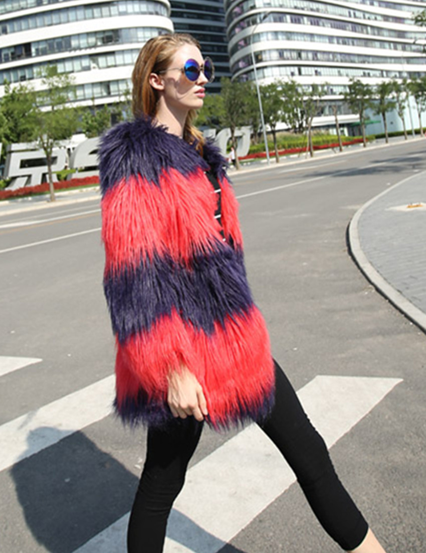 Paul andrew Red Purple Fur Ankle Boots in Red | Lyst