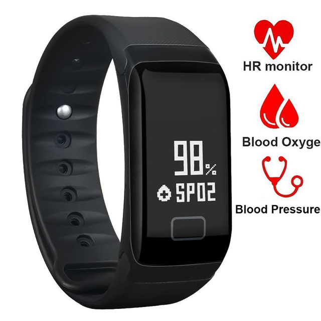 Smart Bracelets F1 Blood Pressure Monitor Fitness Bracelet Activity Tracker Band Smartband Pedometer Wristband