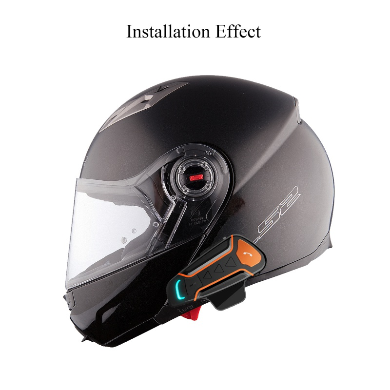 Portable Motorbike Bluetooth Headset Communication Systems Waterproof Motorcycle Helmet Intercom Interphone And Audio