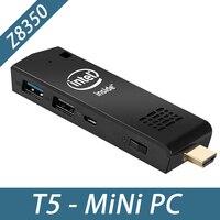 Micro Pocket PC Z8350 Mini PC T5 Mini Computer Intel atom Z8350 Quad Core WiFi2.4G&5G 4K Bluetooth 4.0 HDMI HTPC USB PC Stick