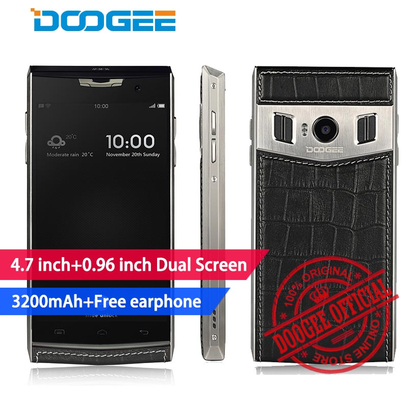 Doogee T3 Smartphone HD 4.7 inch+0.96 inch DUAL Screen MTK6753 Octa Core 3GB+32GB 13MP 3200mAh Android 6.0 4G LTE mobile phones