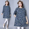 High Quality Pregnant Woman Dress Autumn Long Sleeve Floral Cotton Linen Maternity Clothes Loose Casual Long Dresses CE317