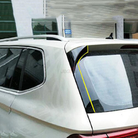 Back Window Rear Spoiler Side Wing Splitter Trim For VW Tiguan MK2 2017 2018 Gloss Black 2pcs