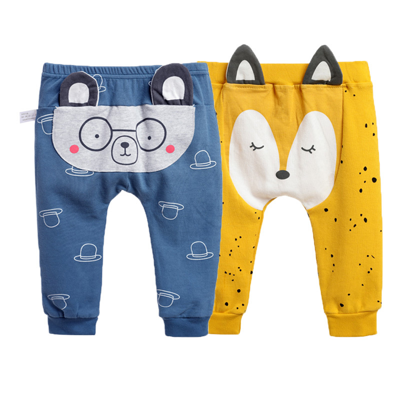 Baby Pants New Born Baby PP Pants 2 Pieces/Lot Boy Gilrs Clothes Cute  Cartoon Bear Fox Trousers For 6-18M Little Kids Leggings