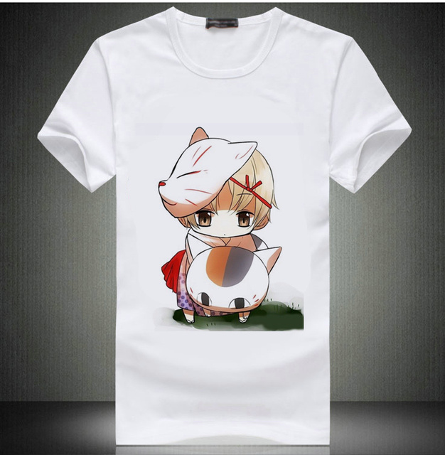 Anime Natsume's Book of Friends T-Shirt Short Sleeve White Color Tops Japanese Anime Natsume T Shirt Top Tee tshirt