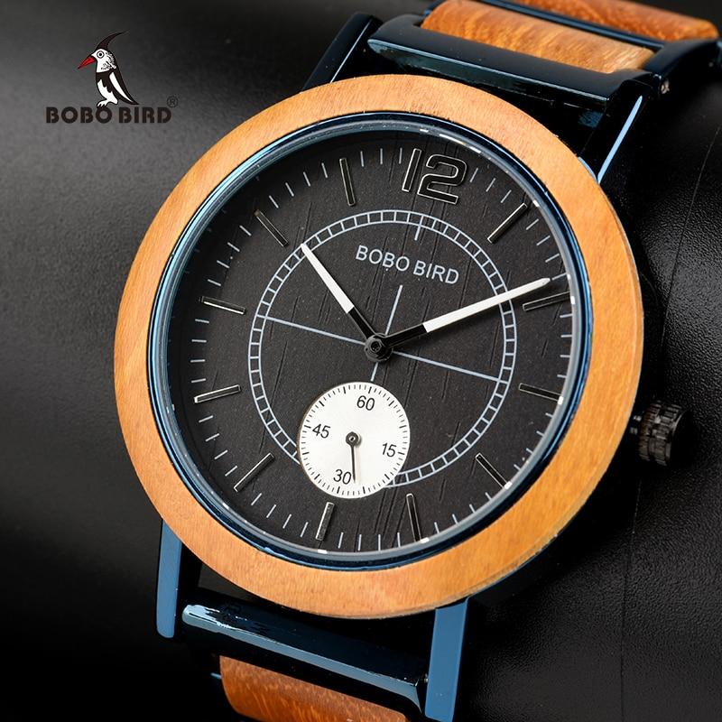 все цены на BOBO BIRD Couple Watch Men Wooden Ladies Wristatches Male Women relogio feminino erkek kol saati Timepiece in gift box онлайн