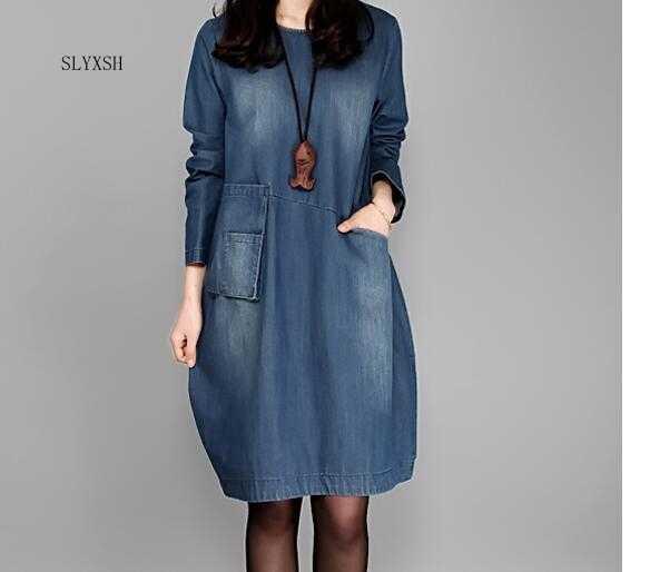 591b63c51d64200 2018 Новые беременных Для женщин платье из джинсовой ткани синие летние Беременность  одежда свободные плюс Размеры