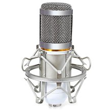 Hot sale! Hot sale 2016 Wired Wide Frequency Response Studio Condenser Sound Recording Microphone with Metal Shock Mount Kit for