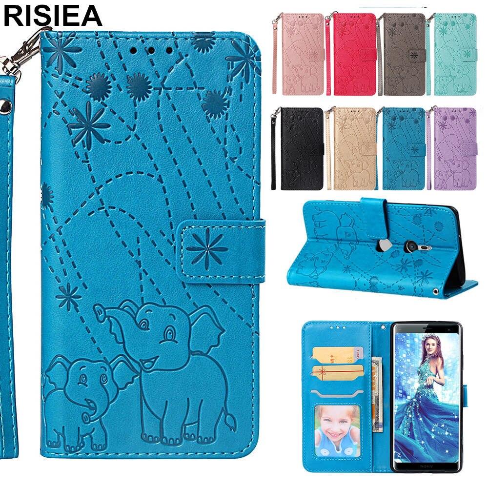 Reasonable Risiea Pu Leather Flip Wallet Case For Sony Xperia Xa3 Phone Cover Elephant Fireworks Case For Sony Xperia Xz3 Case Coque