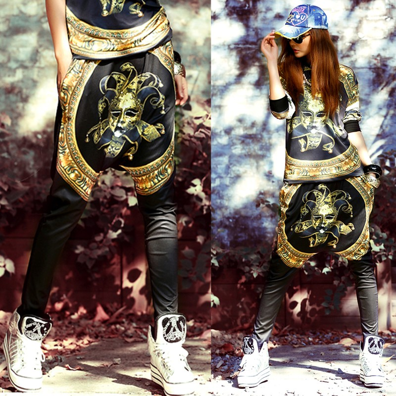 2014 New fashion spring summer Hip Hop Dance skinny Pants Sweatpants Costumes  loose stage performance wear harem trousers