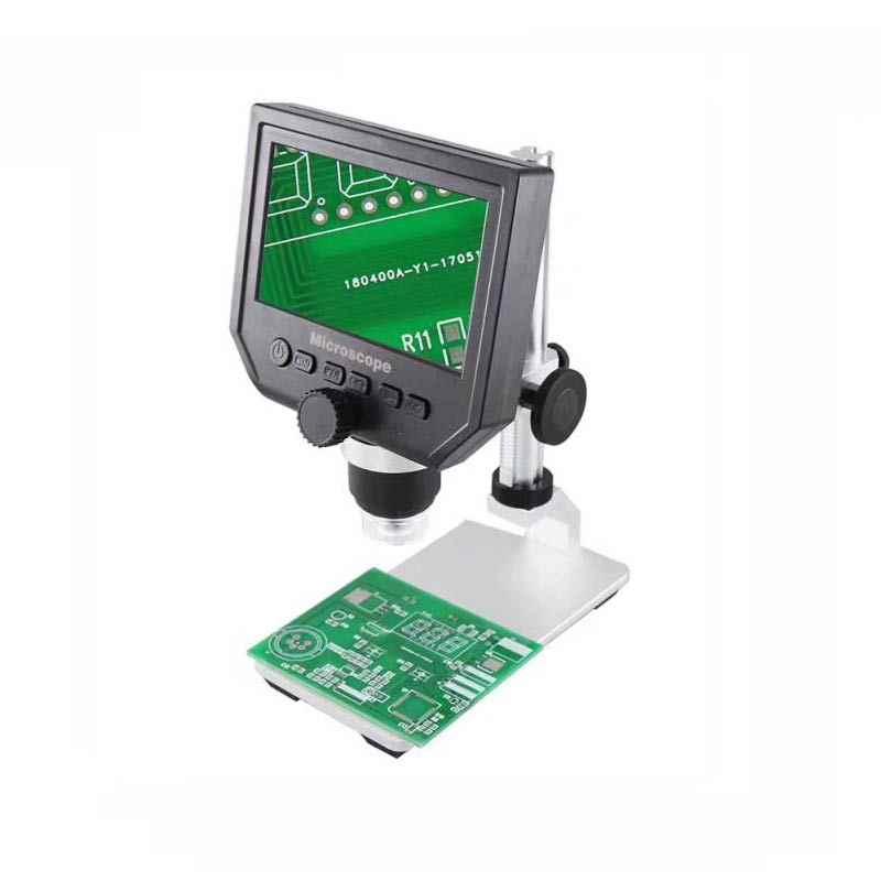 """1-600x 3.6MP USB цифровой электронный микроскоп Портативный 8 светодиодный VGA микроскоп с 4,3 """"HD O светодиодный экран для ремонта материнской платы"""