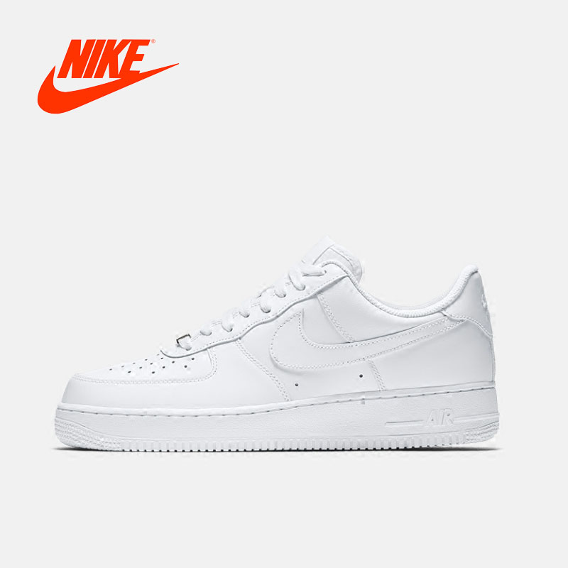 Nueva llegada Original autenticación Nike AIR FORCE 1 '07 para hombre skate zapatos zapatillas de deporte respirable cómodo