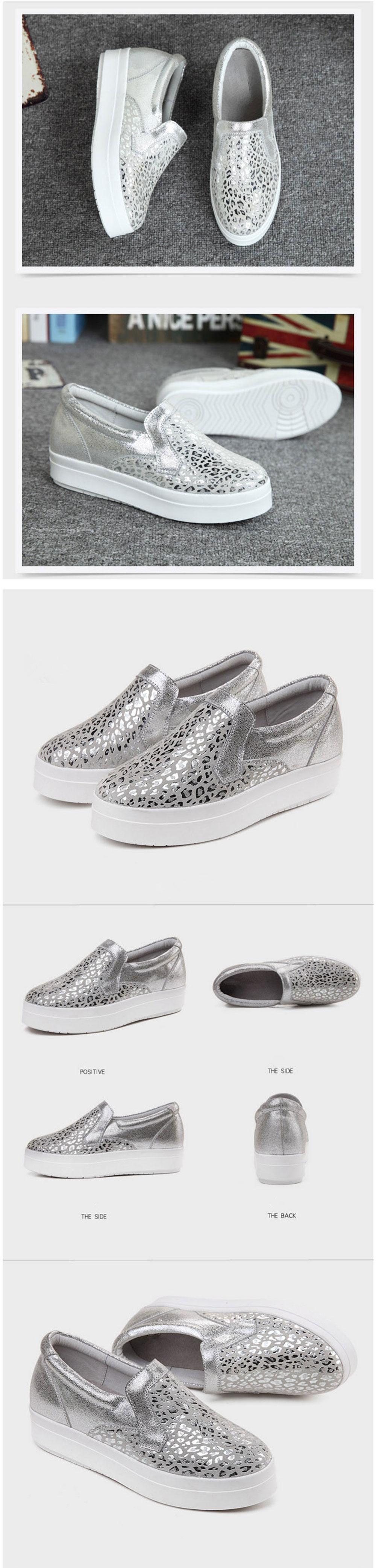 6ff159182122 FONIRRA Women Sneakers Platform Flats Loafers Shoes Bling Leopard ...