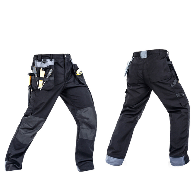 2018 Working Pants Multi-Pockets Wear-Resistant Worker Mechanic Cargo Pants Work Wear Trousers High Quality Machine Repair Pants 1