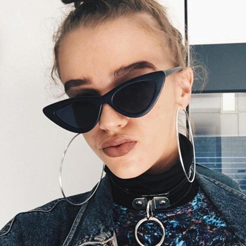 2018 nueva moda lindo Sexy señoras de ojo de gato gafas de sol mujer marca Vintage pequeño sol gafas mujer Oculos de sol UV400