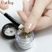 Dropshipping Hot 10g/Box Gold Sliver Nail Glitter Powder Shinning Nail Mirror Powder Mar10