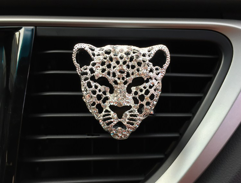 leopard face air freshener