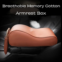 Breathable PU Leather Memory Cotton Car Armrest Box Elbow Pad Central Control Arm Rest Box Mats