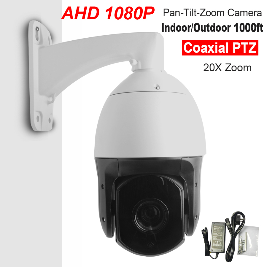 Security CCTV AHD 1080P 2.0MP 6 High Speed Dome AHD PTZ Camera 20X Optical ZOOM IR 300M Auto Focus IP66 Full HD Pan/Tilt IR-CUT 4 in 1 ir high speed dome camera ahd tvi cvi cvbs 1080p output ir night vision 150m ptz dome camera with wiper