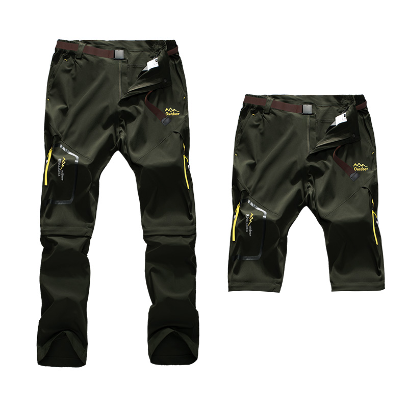 Befusy 6XL Men's Summer Quick Dry Pants Outdoor Male Removable Shorts Hiking Camping Trekking Fishing Sport Stretch Trousers