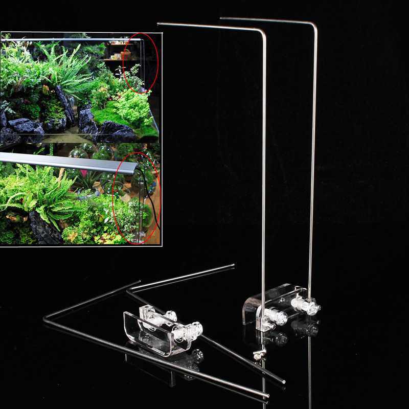 4PCS Stainless Steel Aquarium Stand For Aquatic High LED Light Lamp Fish Tank Holder Bracket Support