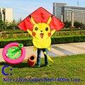 O envio gratuito de alta qualidade dos desenhos animados crianças kites carretel de linha de nylon ripstop tecido pipa voando brinquedos joaninha 3d polvo pipa pipas