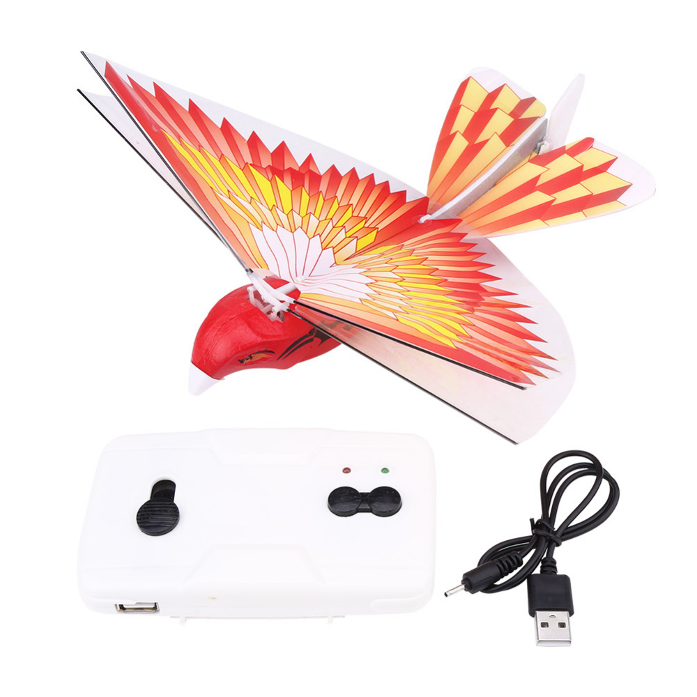 RC Flying Bird for Children Kids RC Animal Toys LED 2.4GHz Remote Control MIni Plane Toy Outdoor Travel Play Toys for Kids
