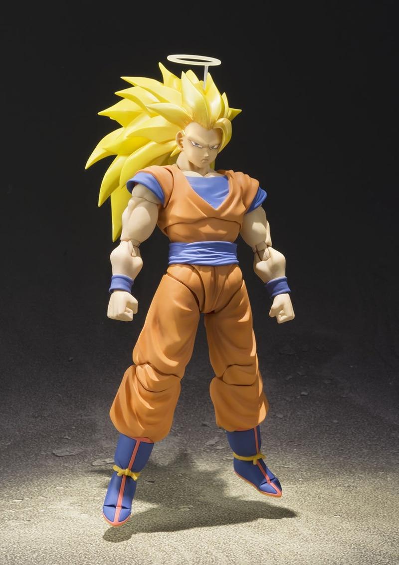Original SHFiguarts Dragon Ball Z BANDAI Tamashii Nations SHF Action Figure – Super Saiyan 3 Son Goku
