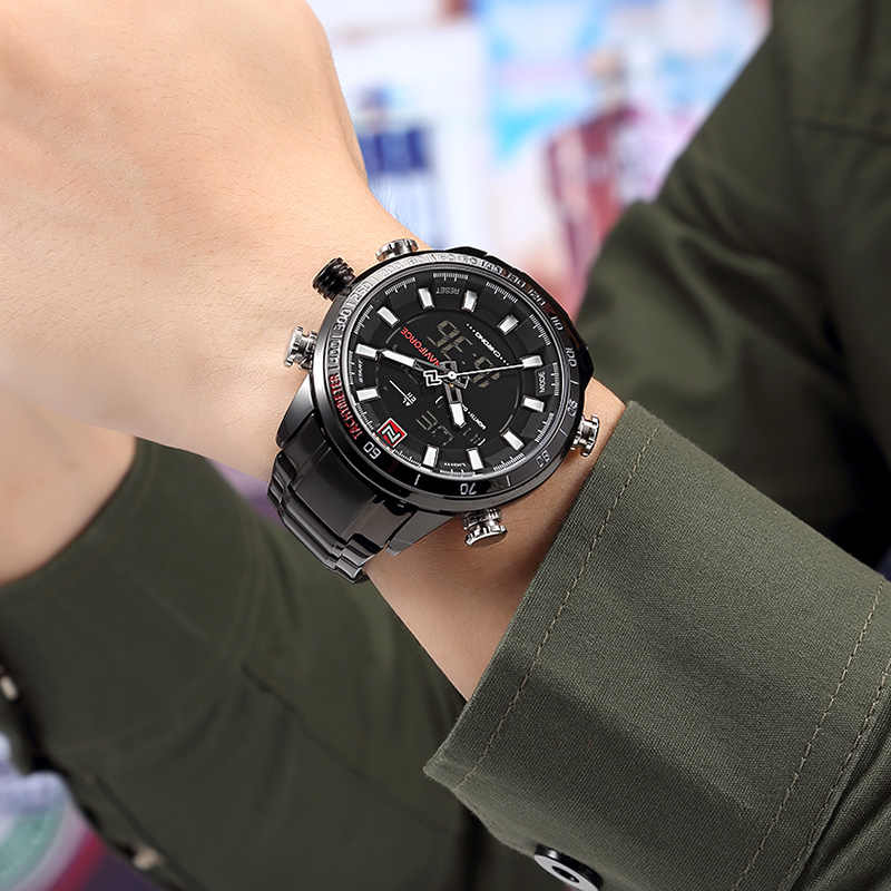 Nuevo reloj de pulsera deportivo de marca de lujo para hombre, relojes militares a prueba de agua, reloj Digital LED de acero para hombre hombre