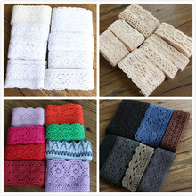 4-8cm Mixed random delivery 5yards / lot lace garment sewing fabric decorative cotton crochet ribbon handmade jewelry