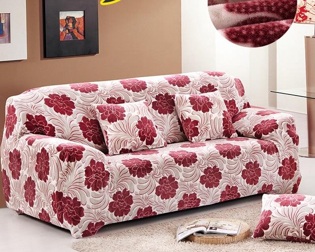 Velvet Plush Sofa Slipcover Pixel Stretch Fashion Couch Cover Grey,Purple  Sofa Cover Anti