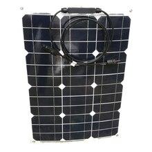 Alta eficiencia Flexible Panel Solar 12 v 35 w Cargador Solar monocristalino batería del teléfono Rv Motorhome coche Camping caravana