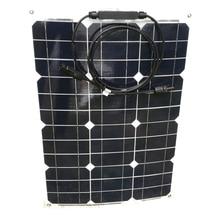 цена на Solar Flexible Panel 35w 12v 4 Pcs  Monocrystalline Semi Flexible Efficiency Solar Panel 140w  Solar Phone Outdoor Car Camping