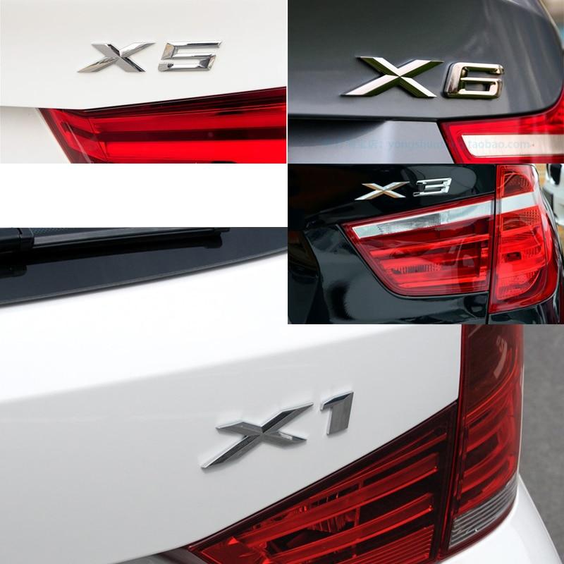 10pcs Metal 3D boot stickers for bmw X1 X3 X5 X6 logo Car Sticker emblem trunk car body emblem sticker Car Styling