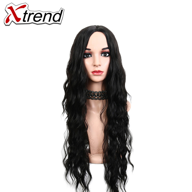 Xtrend Long Synthetic Afro Natural Wave Hair Wigs For Africa Women ...