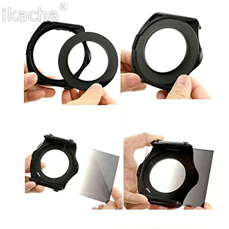 Hot 24 Color Filter Set Square Graduated ND Filter Kit 9 Adapter Ring holder Lens Hood For Cokin P Ring Series Camera in Camera Filters from Consumer Electronics