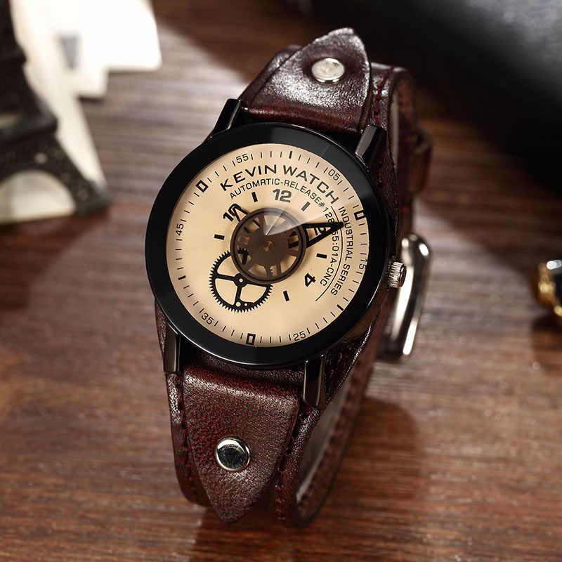 Conception Unique cadran à engrenages industriel montres créatives Vintage Steampunk montre-bracelet femmes hommes de luxe haut marque amoureux Couple montre