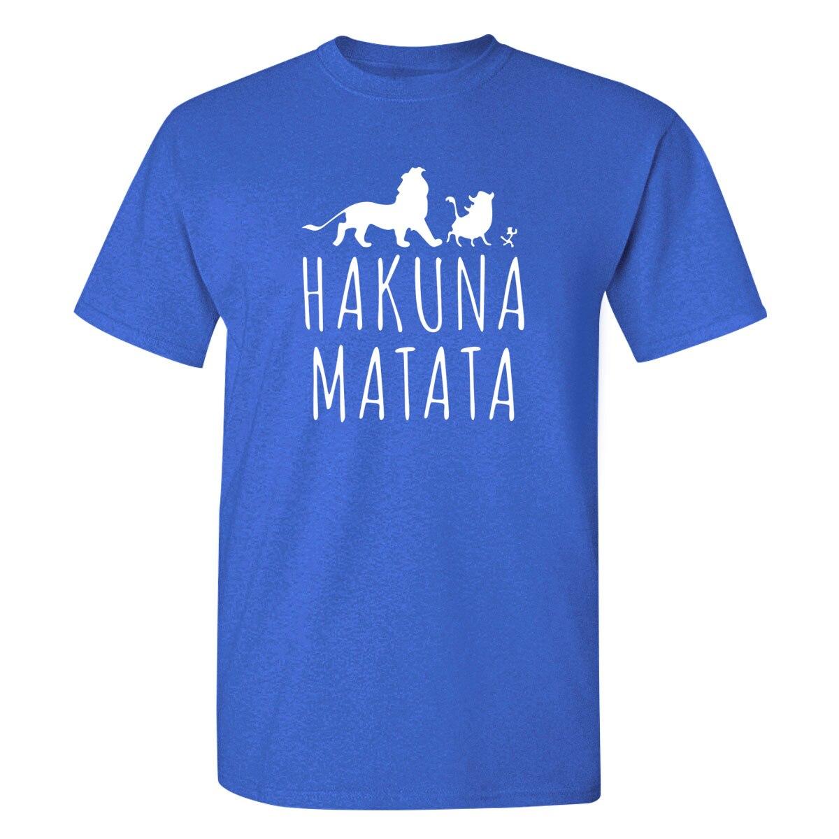 Fashion Top Tee Brand Printed HAKUNA MATATA Cool Fashionable Man Short T shirt Harajuku T-shirts Hot Sale T shirt Tees Shirts