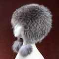 luxury autumn winter fashion 2016 new women fur hat of natural silver fox,hand knit ladies  hat of natural fur H149603
