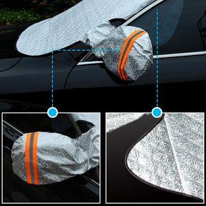 Image 3 - العالمي سيارة الثلوج غطاء المغناطيسي غطاء الزجاج الأمامي سمكا الشمس الظل غطاء للحماية الشمس مانع جميع الطقس الشتاء الصيف SUV