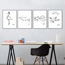 Minimalist Pablo Picasso Abstract Canvas Painting Animals Wall Art Oil Poster Illustration For Living Room No Frame Home Decor