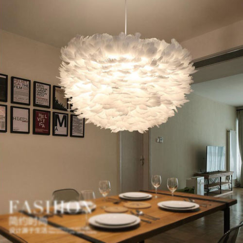 Modern Feather Shade Ceiling Lamp Pendant Ceiling Light