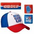Бесплатная доставка Никогда Не Сдавайся Бейсболка регулируемые Шляпы джона И не Может Видеть Меня Браслеты Сина Sweatband Оголовье Спорта безопасности