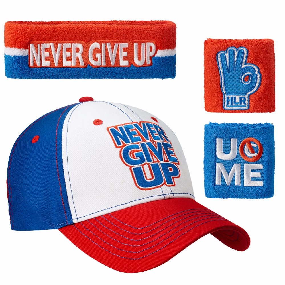 Prix pour Livraison gratuite Never Give Up Casquette de baseball réglable Chapeaux john U ne Peut pas Me Voir Bracelets Cena Bandeau Bandeau de Sport sécurité