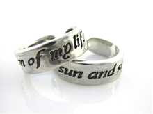 Game of Thrones My Sun and Stars & Moon of My Life Opened Rings